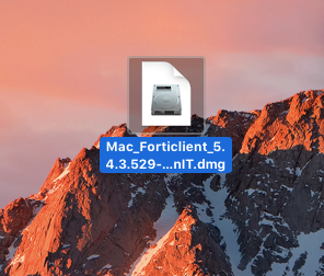 Find the Forticlient download on your desktop.